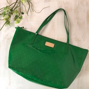Kate Spade Kelly Green Zip Top Shoulder Bag